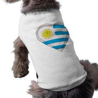 Bandera de Uruguay Playera Sin Mangas Para Perro