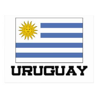 Bandera de Uruguay Tarjeta Postal