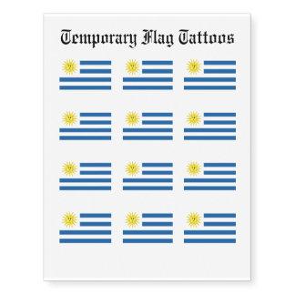 Bandera de Uruguay Tatuajes Temporales