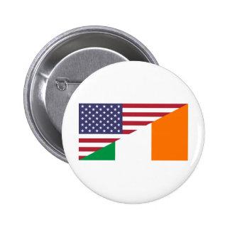 Bandera de USA/Ireland Pins