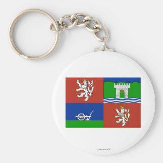 Bandera de Usti nad Labem Llavero Redondo Tipo Pin