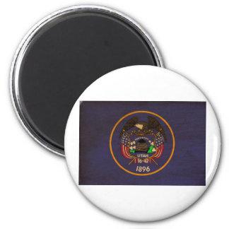 Bandera de Utah Imán Redondo 5 Cm
