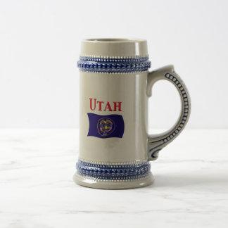 Bandera de Utah Jarra De Cerveza