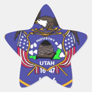 Bandera de Utah Colcomanias Forma De Estrellaes Personalizadas