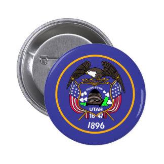 Bandera de Utah Pin Redondo De 2 Pulgadas