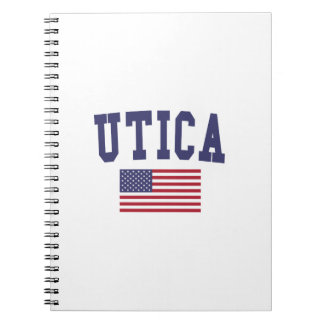 Bandera de Utica los E.E.U.U. Libreta Espiral