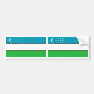 Bandera de Uzbekistán Pegatina De Parachoque