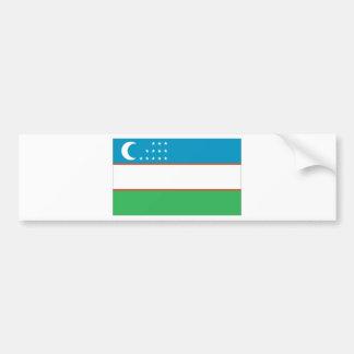Bandera de Uzbekistán Pegatina Para Auto