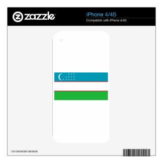 Bandera de Uzbekistán Calcomanías Para El iPhone 4