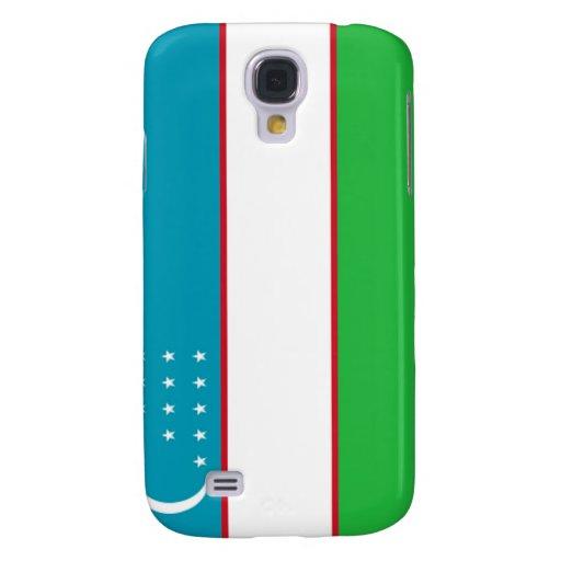 Bandera de Uzbekistán Funda Para Galaxy S4