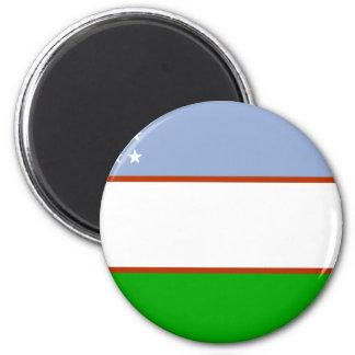 Bandera de Uzbekistán Imán De Frigorífico