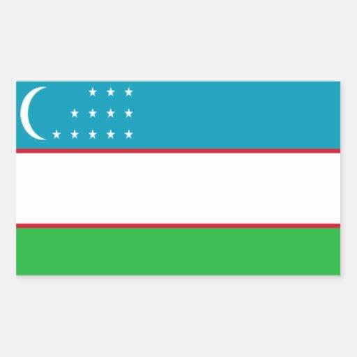 Bandera de Uzbekistán Pegatinas