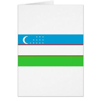Bandera de Uzbekistán Felicitación