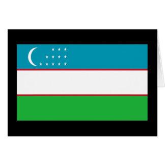 Bandera de Uzbekistán Tarjeta De Felicitación