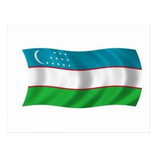 Bandera de Uzbekistán Postales