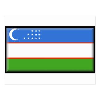 Bandera de Uzbekistán Tarjeta Postal