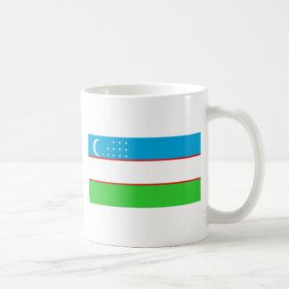 Bandera de Uzbekistán Tazas De Café