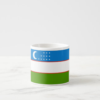 Bandera de Uzbekistán Taza Espresso