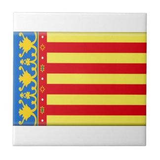 Bandera de Valencia Azulejos Cerámicos