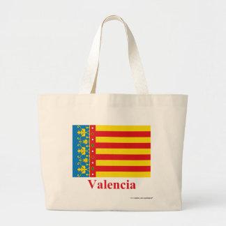 Bandera de Valencia con nombre Bolsas