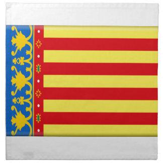 Bandera de Valencia Servilleta Imprimida
