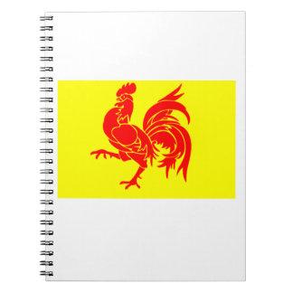 Bandera de Valonia Libro De Apuntes Con Espiral