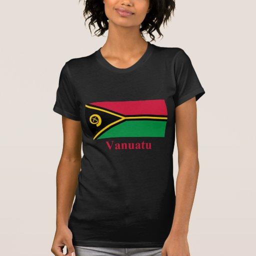 Bandera de Vanuatu con nombre Camisetas