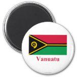 Bandera de Vanuatu con nombre Imanes