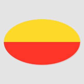 Bandera de Varsovia Pegatinas Ovales