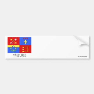Bandera de Vaucluse con nombre Pegatina De Parachoque