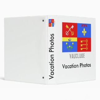 Bandera de Vaucluse con nombre