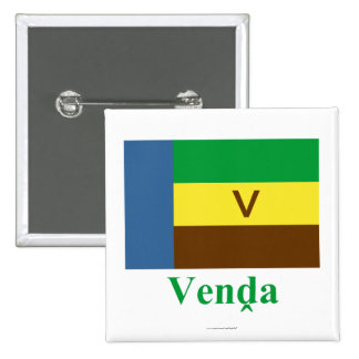 Bandera de Venda con nombre en Venda Pin Cuadrada 5 Cm