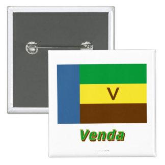 Bandera de Venda con nombre Pin Cuadrada 5 Cm