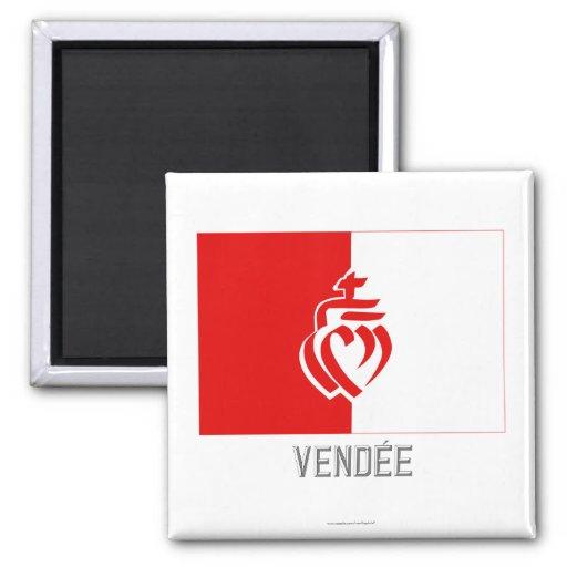 Bandera de Vendée con nombre Iman