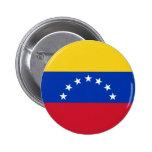 Bandera de Venezuela, 7 Estrellas Pin Redondo De 2 Pulgadas