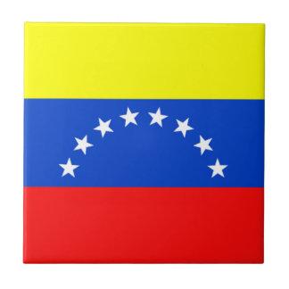 Bandera de Venezuela Azulejo Cuadrado Pequeño