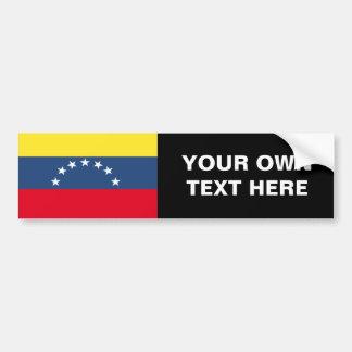 Bandera de Venezuela Pegatina Para Auto