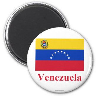 Bandera de Venezuela con nombre Imanes De Nevera