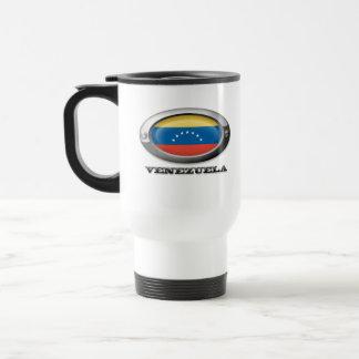 Bandera de Venezuela en el marco de acero Taza De Café