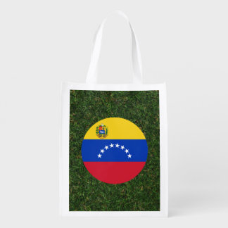 Bandera de Venezuela en hierba Bolsas Reutilizables