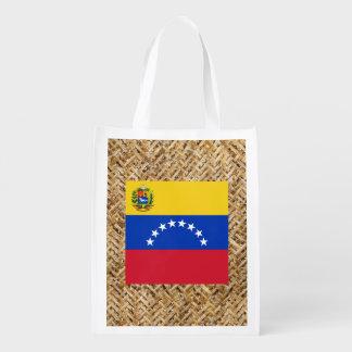 Bandera de Venezuela en la materia textil temática Bolsa Para La Compra