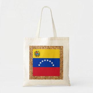 Bandera de Venezuela en la materia textil temática Bolsa Tela Barata