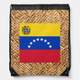 Bandera de Venezuela en la materia textil temática Mochilas