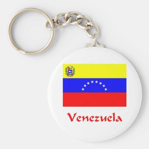 Bandera de Venezuela Llavero Redondo Tipo Pin