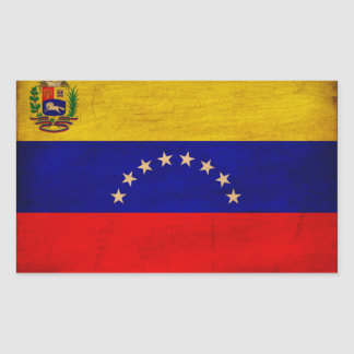 Bandera de Venezuela Pegatina Rectangular