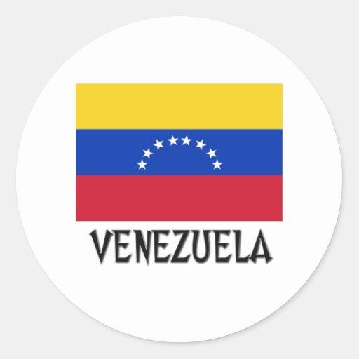 Bandera de Venezuela Pegatinas Redondas