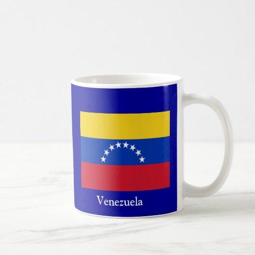 Bandera de Venezuela Taza Básica Blanca