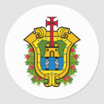 Bandera de Veracruz Pegatina Redonda