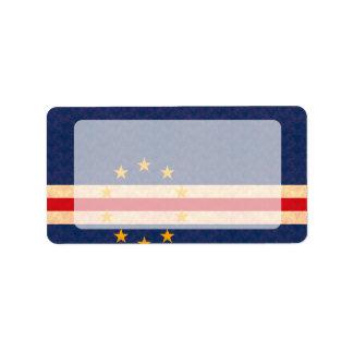Bandera de Verdian del cabo del modelo del vintage Etiqueta De Dirección