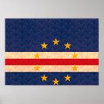 Bandera de Verdian del cabo del modelo del vintage Póster